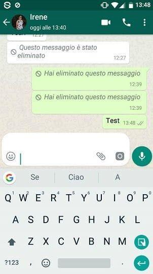 eliminare messaggi whatsapp inviati per errore