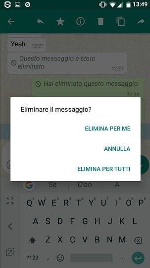 cancellare messaggi whatsapp inviati per errore